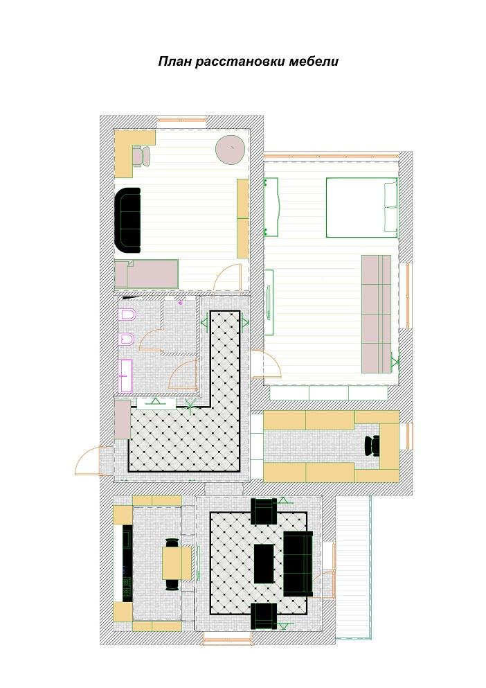 Планы расстановки мебели